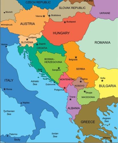 Albania-map